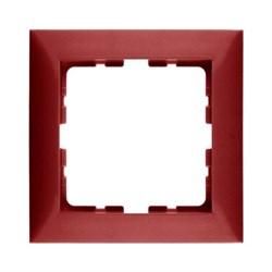 Рамкa 1-пост, Berker S.1, цвет: красный, с блеском 10118962 - фото 5537
