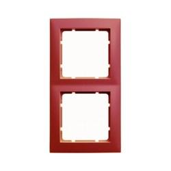 Рамкa 2-поста, Berker S.1, цвет: красный, с блеском 10128962 - фото 5538