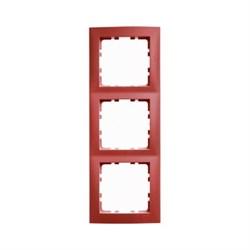 Рамкa 3-поста, Berker S.1, цвет: красный, с блеском 10138962 - фото 5539