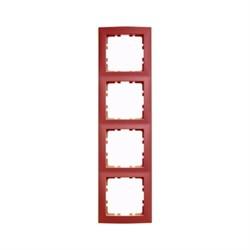Рамкa 4-поста, Berker S.1, цвет: красный, с блеском 10148962 - фото 5540
