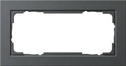 Установочные рамки без серединной перемычки, обладающие повышенной прочностью двухместные Gira E2 Антрацит - фото 5827