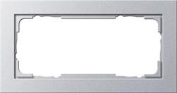 Установочные рамки без серединной перемычки, обладающие повышенной прочностью двухместные Gira E2 Алюминий - фото 5828