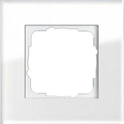Рамка 1-пост, Gira Esprit Белое стекло 021112 - фото 5830