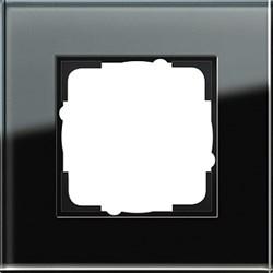 Рамка 1-пост, Gira Esprit Черное стекло 021105 - фото 5831