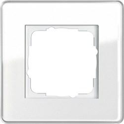 Рамка 1-пост, Gira Esprit Glass C белое стекло 0211512 - фото 5834