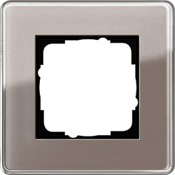 Рамка 1-пост, Gira Esprit Glass C дымчатое стекло 0211522 - фото 5836