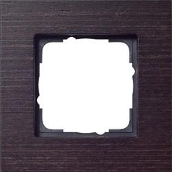 Рамка 1-пост, Gira Esprit Дерево Венге 021111 - фото 5840