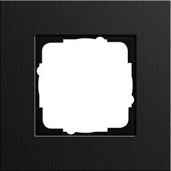 Рамка 1-пост, Gira Esprit Алюминий черного цвета 0211126 - фото 5841