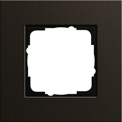 Рамка 1-пост, Gira Esprit Алюминий коричневого цвета 0211127 - фото 5842