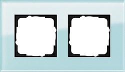 Рамка 2-пост, Gira Esprit Салатовое стекло 021218 - фото 5844