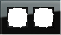Рамка 2-пост, Gira Esprit Черное стекло 021205 - фото 5846