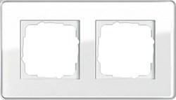 Рамка 2-пост, Gira Esprit Glass C белое стекло 0212512 - фото 5849