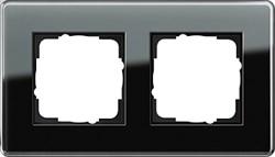 Рамка 2-пост, Gira Esprit Glass C черное стекло 0212505 - фото 5850