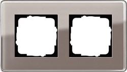 Рамка 2-пост, Gira Esprit Glass C дымчатое стекло 0212522 - фото 5851