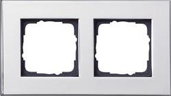 Рамка 2-пост, Gira Esprit Хром 021210 - фото 5854