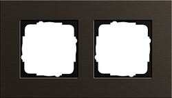 Рамка 2-пост, Gira Esprit Алюминий коричневого цвета - фото 5857