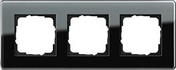 Рамка 3-пост, Gira Esprit Glass C черное стекло 0213505 - фото 5865
