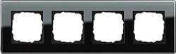 Рамка 4-пост, Gira Esprit Glass C черное стекло 0214505 - фото 5880
