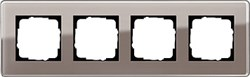 Рамка 4-пост, Gira Esprit Glass C дымчатое стекло 0214522 - фото 5881