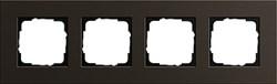 Рамка 4-пост, Gira Esprit Алюминий коричневого цвета 0214127 - фото 5887
