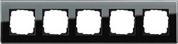 Рамка 5-пост, Gira Esprit Glass C черное стекло 0215505 - фото 5895