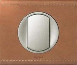 Рамка одноместная Legrand Celiane Кожа крем-карамель - фото 6024