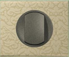 Рамка одноместная Legrand Celiane Текстиль орнамент - фото 6054