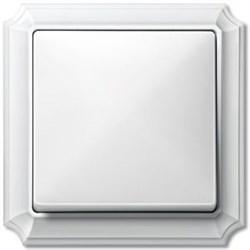 Рамкa 1-пост, Merten Antique, цвет: полярно-белый - фото 6106
