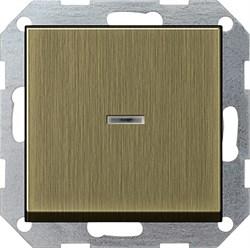 Выключатель с подсветкой с самовозвратом 10 А / 250 В~ в сборе Gira System 55 Бронза 0136603 - фото 6473