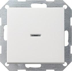 Выключатель с подсветкой с самовозвратом проходной в сборе Белый (012203) - фото 6477