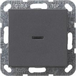 Выключатель с подсветкой с самовозвратом проходной в сборе Антрацит (012228) - фото 6479