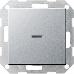 Выключатель с подсветкой с самовозвратом проходной в сборе Алюминий (012226) - фото 6480