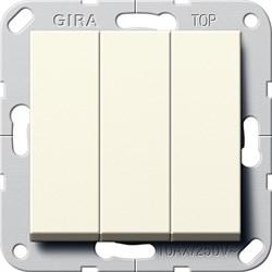 Выключатель Gira самовозвратом 3-клавишный Кремовый (284401) - фото 6481