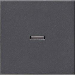Клавиша с окошком для подсветки Gira System 55 Антрацит - фото 6509