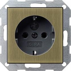 Розетка с защитой от детей Gira Бронза/Чёрный 0453603 - фото 6538