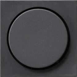 Накладка с поворотной кнопкой для светорегуляторов Антрацит 065028 - фото 6557