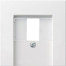 Gira S-55 Бел глянц Накладка ТЛФ розетки TAE, аудиорозетки(110910),USB (107000) с шильдиком - фото 6568