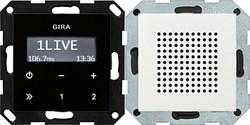 Радиоприемник скрытого монтажа с функцией RDS с динамиком Gira System 55 Белый - фото 6579