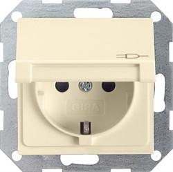 Розетка с откидной крышкой с защитой от детей Кремовый Gira 041401 - фото 6603