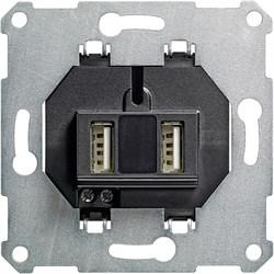 Разъем USB для питания, 2-местный Gira System 55 - фото 6608