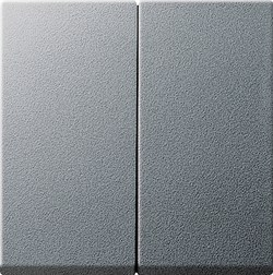 Двухклавишный выключатель с самовозвратом в сборе 55 Алюминий (012526) - фото 6613