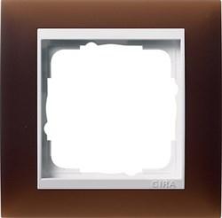 Рамка 1-пост для центральных вставок белого цвета, Gira Event Темно-коричневый - фото 6696
