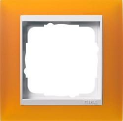 Рамка 1-пост для центральных вставок белого цвета, Gira Event Янтарный - фото 6697
