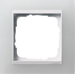 Рамка 1-пост для центральных вставок белого цвета, Gira Event Белый - фото 6698