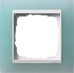 Рамка 1-пост для центральных вставок белого цвета, Gira Event Матовый салатовый - фото 6699