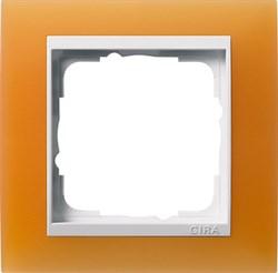 Рамка 1-пост для центральных вставок белого цвета, Gira Event Оранжевый - фото 6700