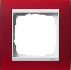 Рамка 1-пост для центральных вставок белого цвета, Gira Event Красный - фото 6701