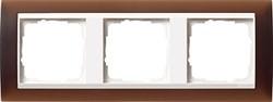 Рамка 3-пост для центральных вставок белого цвета, Gira Event Темно-коричневый - фото 6703