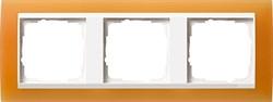 Рамка 3-пост для центральных вставок белого цвета, Gira Event Оранжевый - фото 6707