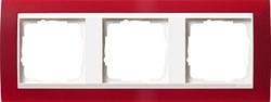 Рамка 3-пост для центральных вставок белого цвета, Gira Event Красный - фото 6708